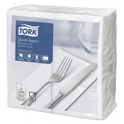 Tork Dinnerservietten Weiß 1/8 Falz 39 x 39 cm 2-lagig