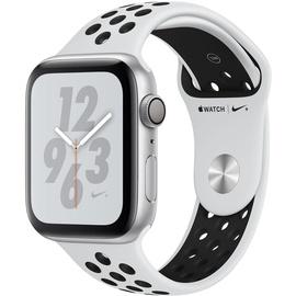Apple Watch Nike+ Series 4 (GPS) 44mm Aluminiumgehäuse silber mit Nike Sportarmband pure platinum / schwarz