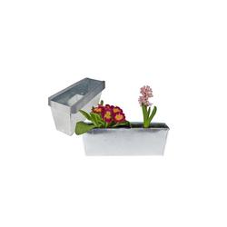 BigDean Blumenkasten Pflanzkasten Balkonkasten Europalette Blumenkübel verzinkt Pflanzkübel LxBxH ca. 35,5 x 12 x 12,5 cm Palette Palettenmöbel balkon Pflanztrog (12 Stück)