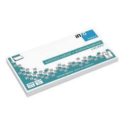 Antimikrobielle Haftnotizen 12,5 x 7,5 cm, 100 Blatt weiß, inFo