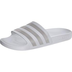 adidas Adilette Aqua Slipper Herren footwear white/platin metal/footwear white UK 6 | EU 39 1/3 2021 Badeschuhe & Sandalen weiß UK 6 | EU 39 1/3