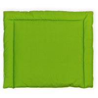 KraftKids Wickelauflage weiße Punkte auf Grün, Wickelunterlage 75x70 cm (BxT), Wickelkissen