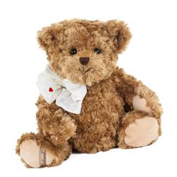 Bukowski Kuscheltier Teddybär Ludwig 30 cm mit Herz auf der Schleife (Stoffteddybären Plüschteddybären, Stofftiere Teddys Plüschtiere)