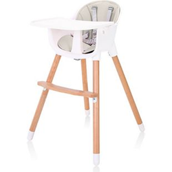 Baby Vivo Design 2in1 Kinderhochstuhl - Lani in Beige