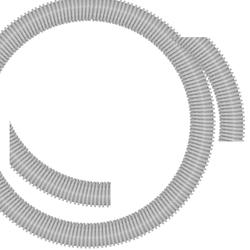 Schlauch D=50mm, grau, Meterware
