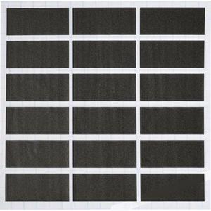 HobbyFun Tafeletiketten 3830100, 50 x 25mm, selbstklebend, schwarz, 54 Stück