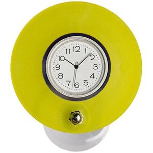Saugnapfuhr Badezimmeruhr für Spiegel und glatte Kacheln Ø 70 mm Uhr Ø 36 mm