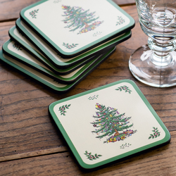 Pimpernel Christmas-Tree 6 Glasuntersetzer