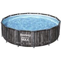 BESTWAY Steel Pro Max Frame Pool Set 427 x 107 cm inkl. Filterpumpe