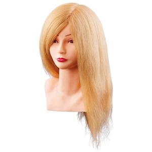 """Comair 7000799 Übungskopf """"Louisa"""", 40 cm, blond Echthaar mit Büste"""