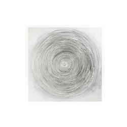 Casa Nova Bild Kreisel in grau/silber, 100 x 100 cm