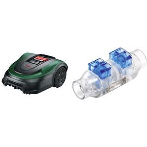 Bosch Rasenmäher Roboter Indego XS 300 (mit integriertem 18-V-Akku, Ladestation enthalten, Schnittbreite 19 cm, für Rasenflächen bis 300 m2, im Karton) & ker (für Bosch Indego Rasenmäher)
