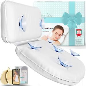 Pumpko® Badewannenkopfkissen in hochwertiger Geschenkbox | inkl. 2 Peeling Pads und Wellness-Guide (PDF) | Komfort Badewannenkissen als Geschenkidee | Partner Geschenke