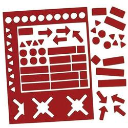 Magnetsymbole 10mm Set mit 70 Symbolen rot