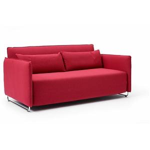 Softline Schlafsofa Cord rot, Designer Busk & Hertzog, 76x170x96 cm