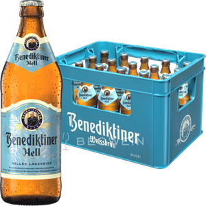 Benediktiner Hell Lagerbier 20x0,5 l