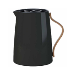 Stelton Isolierkanne Stelton Emma Isolierkanne für Tee 1 Liter schwarz Teekanne