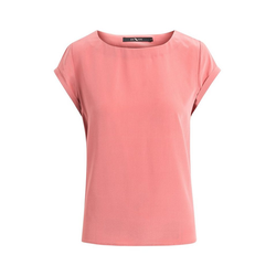 BTFCPH Kurzarmbluse Mia Seide, hochgekrempelte kurze Ärmel rosa XL
