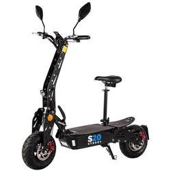 eFlux E-Bike S20 Elektroroller, 600 W, E-Scooter mit Straßenzulassung schwarz