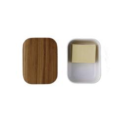 Stelton Butterdose RIG-TIG BOX-IT Butterdose, weiß, Melamin, Bambus