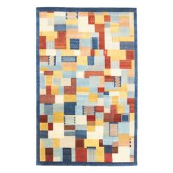 Wollteppich LORIBAFT AWARO, morgenland, rechteckig, Höhe 18 mm, Luxus, fein Handgeknüpft blau 250 cm x 350 cm x 18 mm