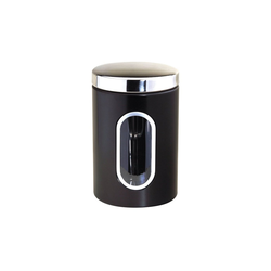 Michelino Aufbewahrungsdose Aufbewahrungsdose Edelstahl 1,5 Liter schwarz