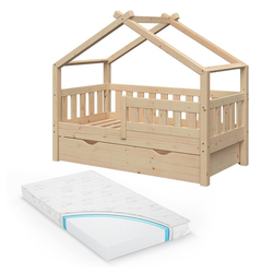 VitaliSpa® Babybett Design Kinderbett 140x70 Jugendbett 2 Schubladen Lattenrost