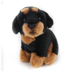 Teddys Rothenburg Kuscheltier (Hund Rottweiler sitzend 12 cm, Plüschhund, Plüschtier, Plüschrottweiler, Stofftier, Stoffhunde)