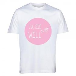 """T-Shirt Junggesellinnenabschied """"JA, SIE WILL"""""""