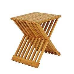Bad Beistelltisch aus Bambus massiv klappbar