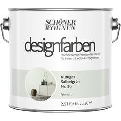SCHÖNER WOHNEN-Kollektion Wandfarbe Designfarben, ruhiges Salbeigrün Nr. 30, feinmatt 2,5 l