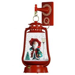 Schneiende LED-Laterne rot Santa 2 - 35 cm