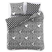 DecoKing Bettwäsche 200x220 cm mit Zwei Kissenbezügen 80x80 schwarz weiß geometrisches Muster Microfaser Hypnosis Mandala