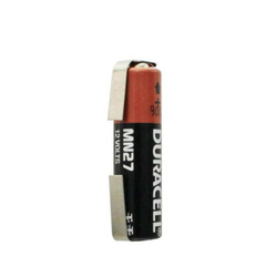Duracell MN27 Batterie 12 Volt Spannung, mit Lötfahnen in U-Form