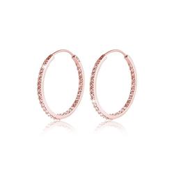 Elli Paar Creolen Creolen Swarovski® Kristalle auch Innen 925 Silber rosa