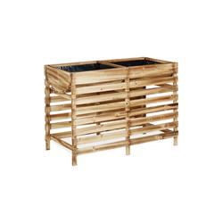 relaxdays Hochbeet Hochbeet aus Holz braun 50 cm x 71 cm x 100 cm