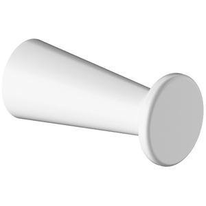 ErgoSystem A1000 Handtuch-/Bademantelhaken 80 mm 8224 - Weiß matt (ähnl. RAL9016) Aluminium