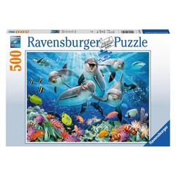 Ravensburger Puzzle Delfine Im Korallenriff, 500 Puzzleteile