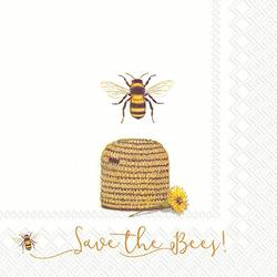 VBS Papierserviette Save the Bees!, (5 St), 33 cm x 33 cm