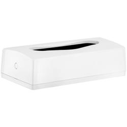racon® Kosmetiktuch-Spender, Kunststoff, weiß, für Kosmetiktuch-Boxen, H 140 mm, B 270 mm, T 70 mm