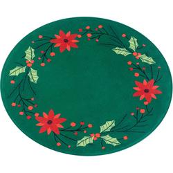 Teppich Weihnachtsstern, my home, rund, Höhe 15 mm, Tannenbaum-Teppich, Wohnzimmer Ø 100 cm x 15 mm