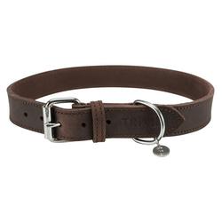 TRIXIE Hunde-Halsband Rustic Fettleder, Leder 3 cm x 66 cm