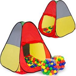 Spielset Kinderspielzelt Jasper inkl. 200 Bällebadbällen   Spielzelt Spielhaus für Jungen und Mädchen   Kinder-Bällebad-Zelt mit Spielbällen   inkl. Tragetasche