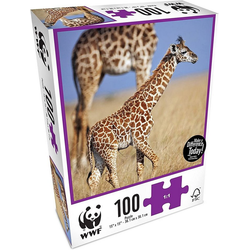 WWF Steckpuzzle WWF Puzzle Baby Giraffe (100 Teile), 100 Puzzleteile