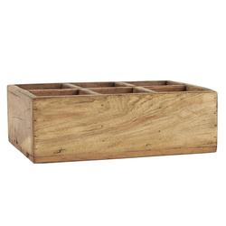 Ib Laursen Holzkiste Holz Kiste Tischdeko Besteckkorb Holzkiste Unika 6 Fächer Ib Laursen 3589-00