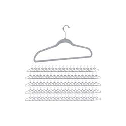 relaxdays Kleiderbügel 100 x Kleiderbügel Samt grau
