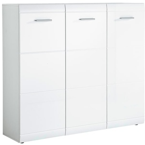 Germania Schuhschrank GW-Adana in weiß Hochglanz, 134 x 120 x 36 cm