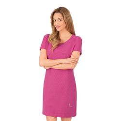 Trigema Halbarm Kleid mit Swarovski Kristallen pink Damen Minikleider Kleider
