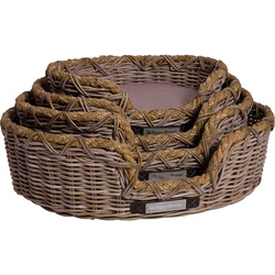 Happy House Hundekorb Rattan, M: 64 x 55 x 23 cm