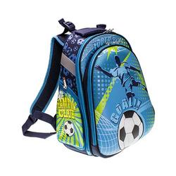 Schulrucksack 2 Zip Motiv »Fußball«